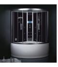 Parní sprchový box s hydromasážní vanou EAGO DA325HF3 černý 135x135x222