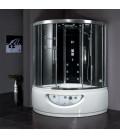 Parní sprchový box s hydromasážní vanou EAGO DA333F8 150x150x220