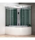 Parní box s hydromasážní vanou Mocoori MODERA 150x150x223,5cm
