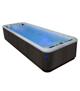 SWIM SPA vířivá vana s bazénkem EO-SPA Aquacise 4.0 Sterling Silver / šedá 400x230